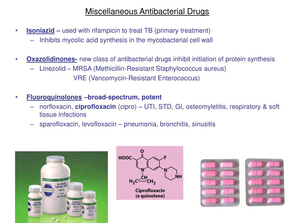 Miscellaneous Antibacterial Drugs
