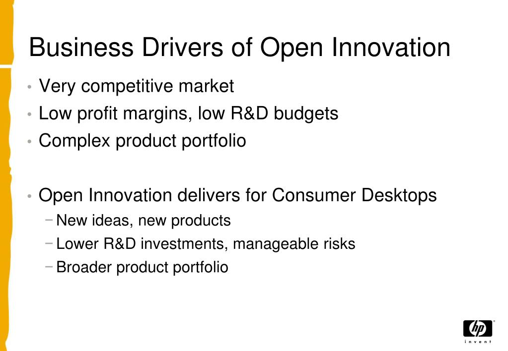 Business Drivers of Open Innovation