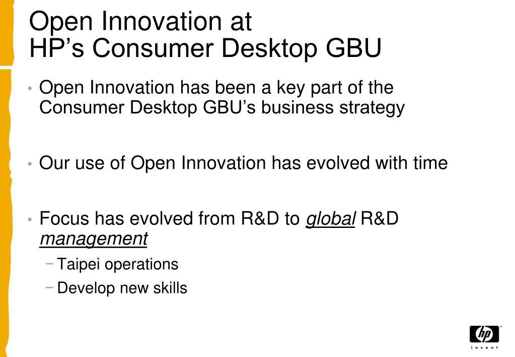 Open Innovation at