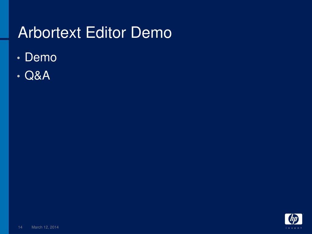 Arbortext Editor Demo