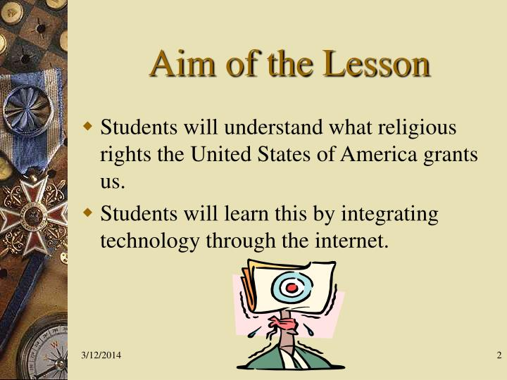 Aim of the lesson