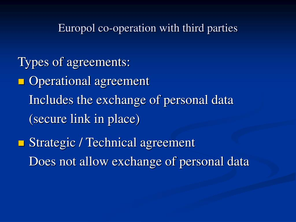 Europol co-operation with third parties