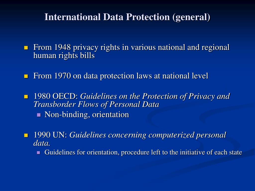International Data Protection (general)