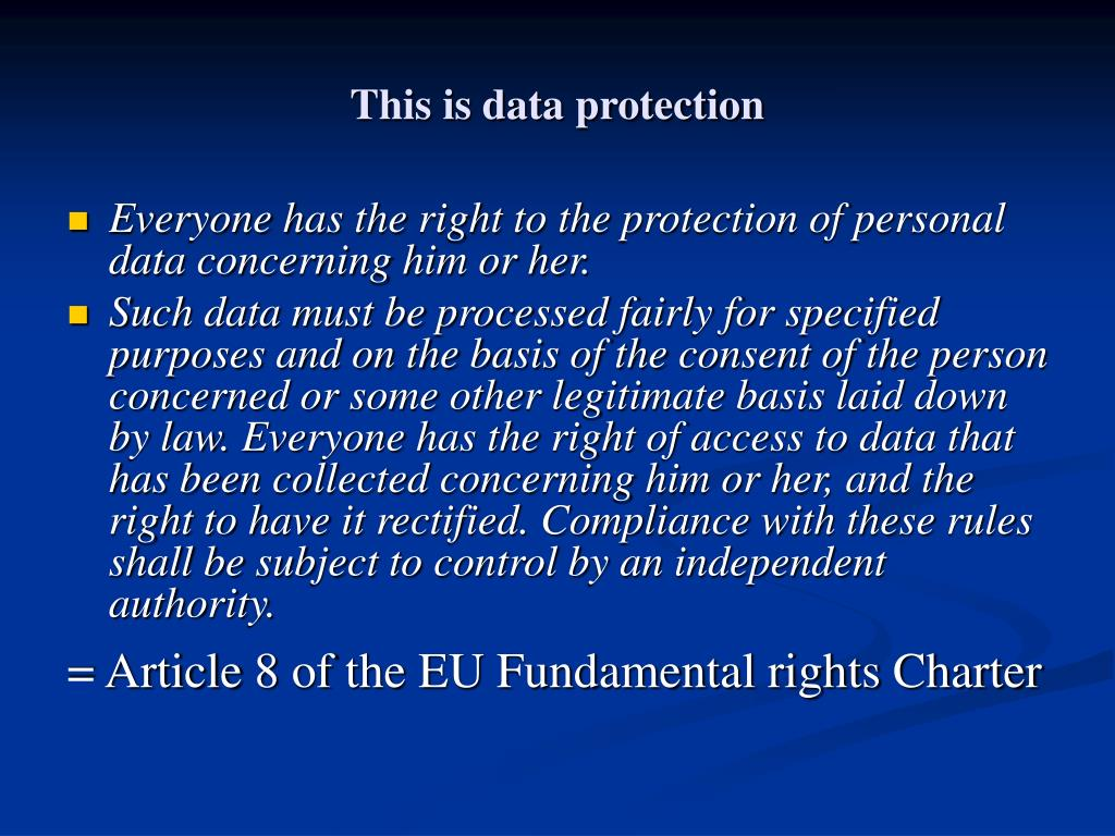 This is data protection