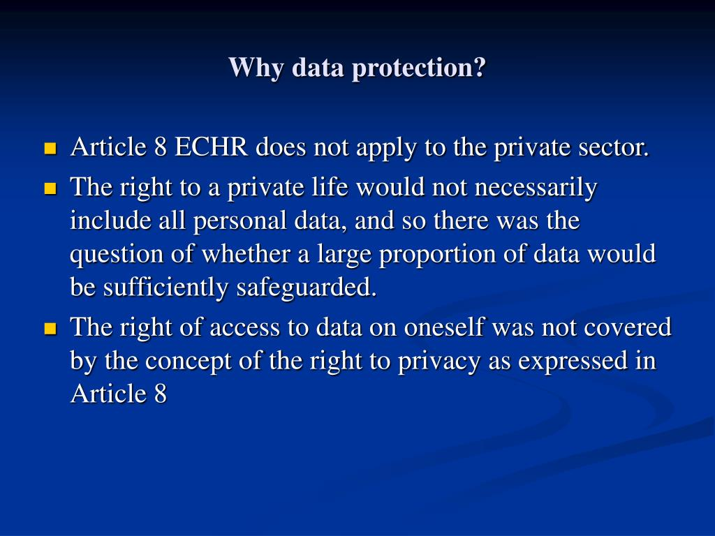 Why data protection?