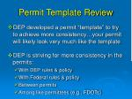 permit template review