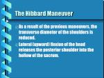 the hibbard maneuver27