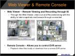 web viewer remote console