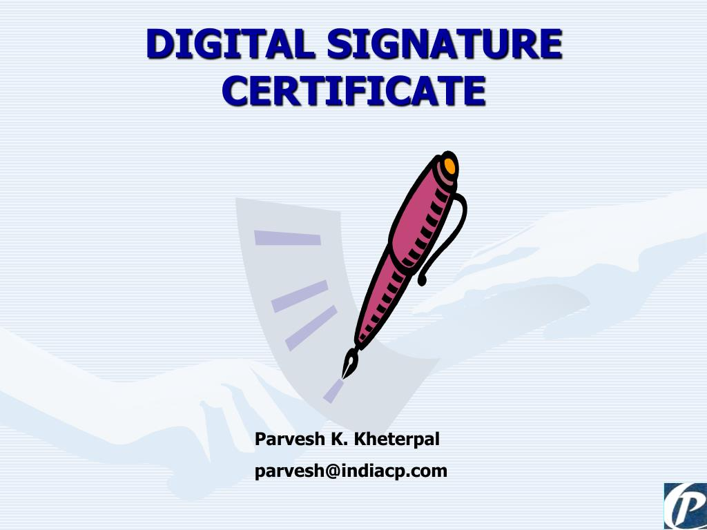 digital signature certificate l.