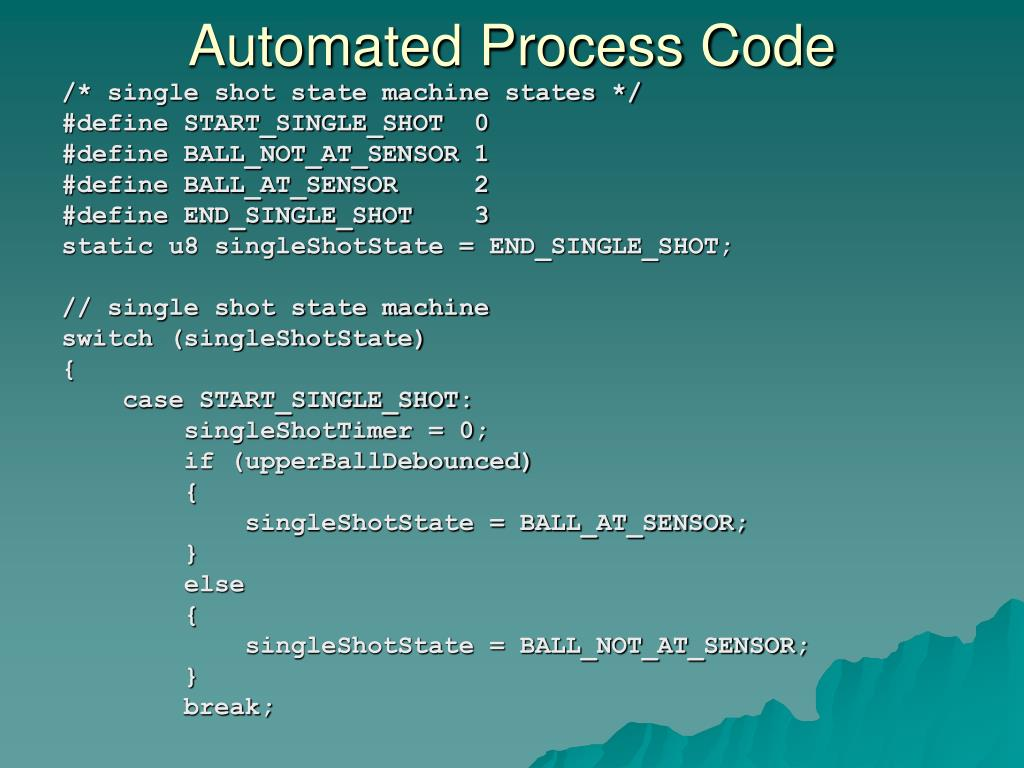 Automated Process Code