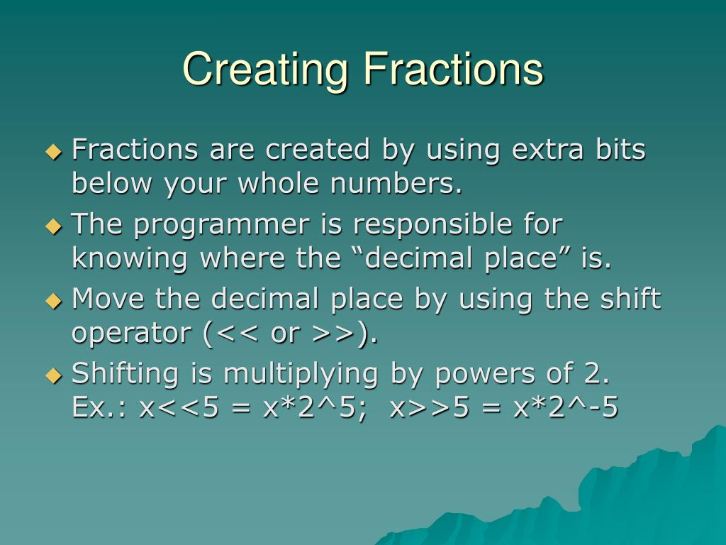 Creating Fractions