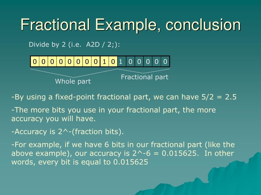 Fractional Example, conclusion