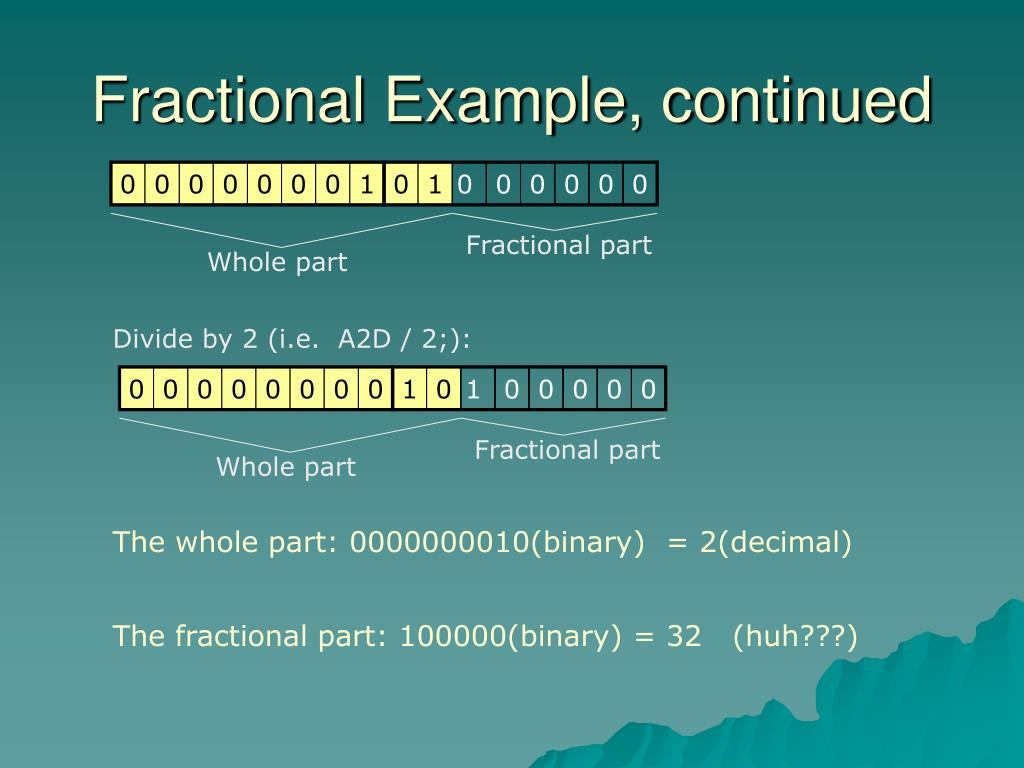 Fractional Example, continued