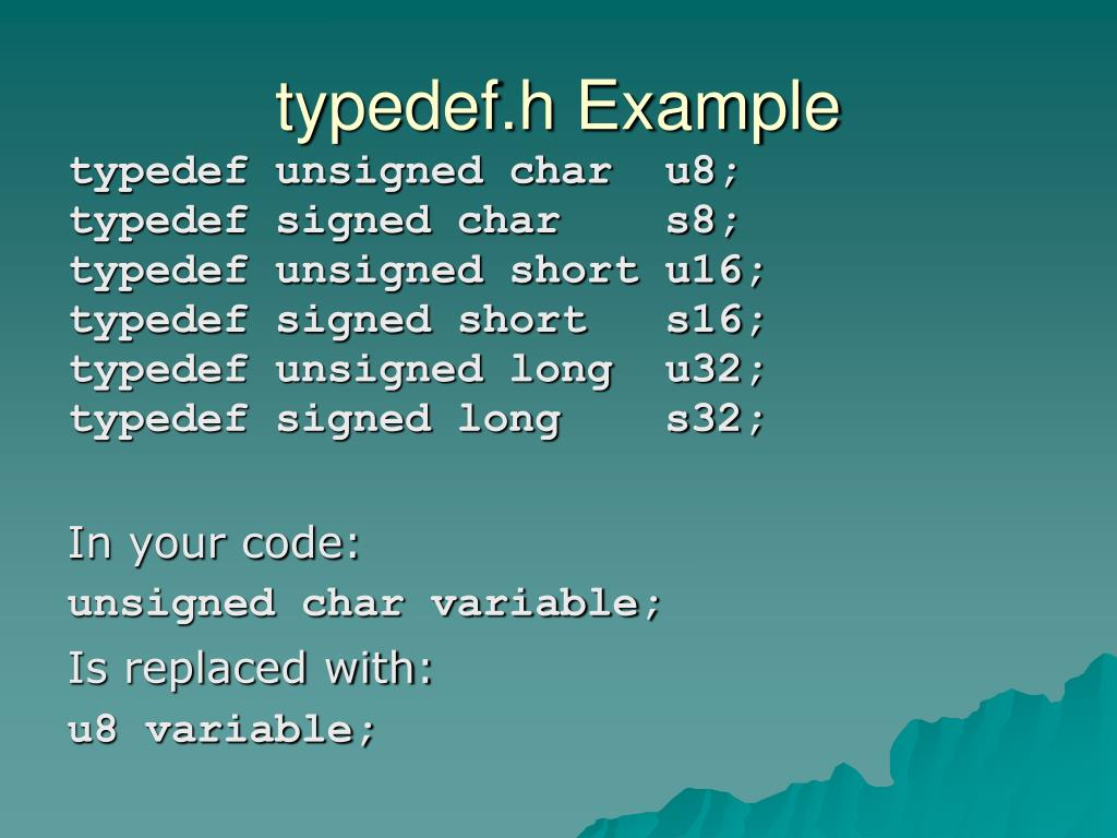 typedef.h Example