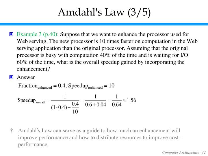 Amdahl's Law (3/5)