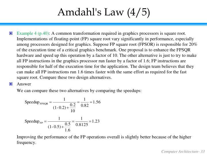 Amdahl's Law (4/5)