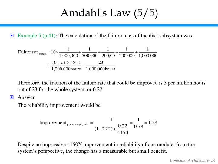 Amdahl's Law (5/5)