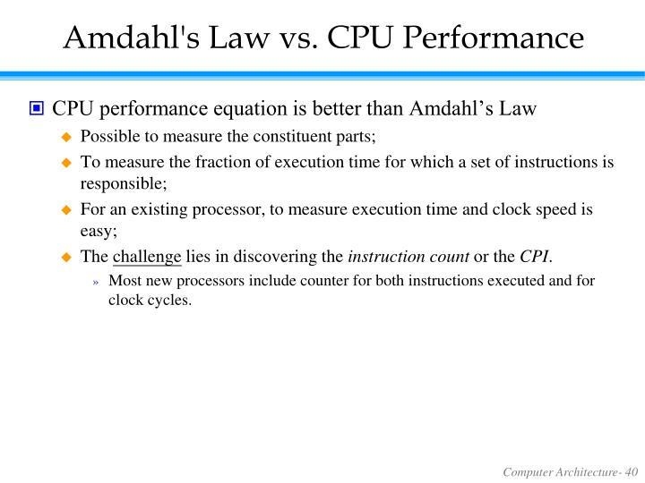 Amdahl's Law vs. CPU Performance