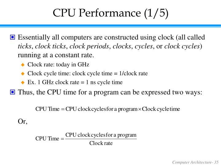 CPU Performance (1/5)