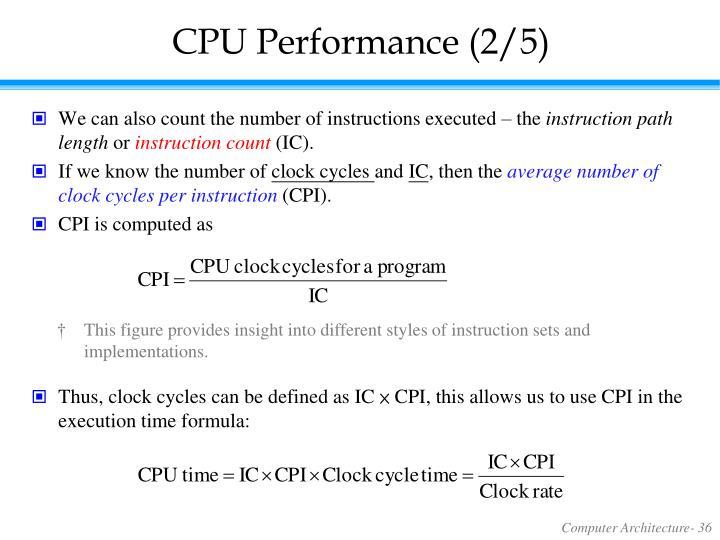 CPU Performance (2/5)