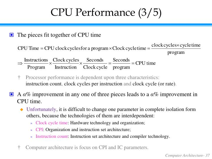 CPU Performance (3/5)