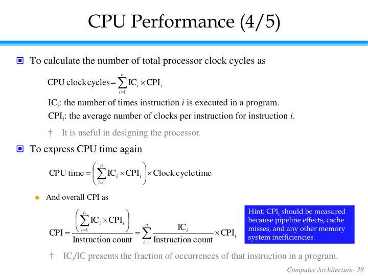 CPU Performance (4/5)
