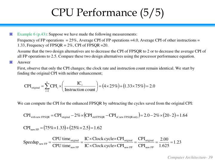 CPU Performance (5/5)