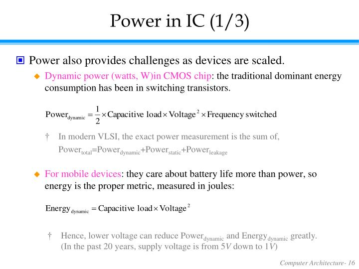 Power in IC (1/3)