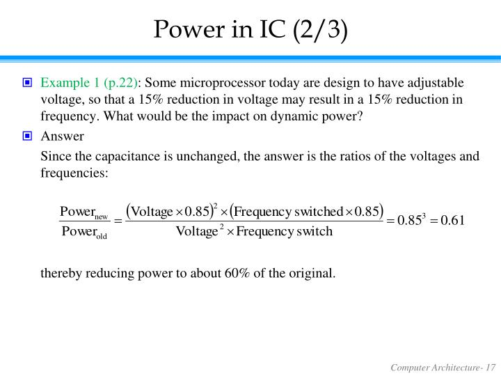 Power in IC (2/3)