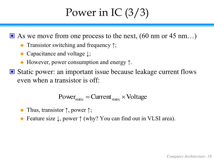 Power in IC (3/3)