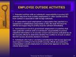 employee outside activities