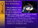 security risks w new technology