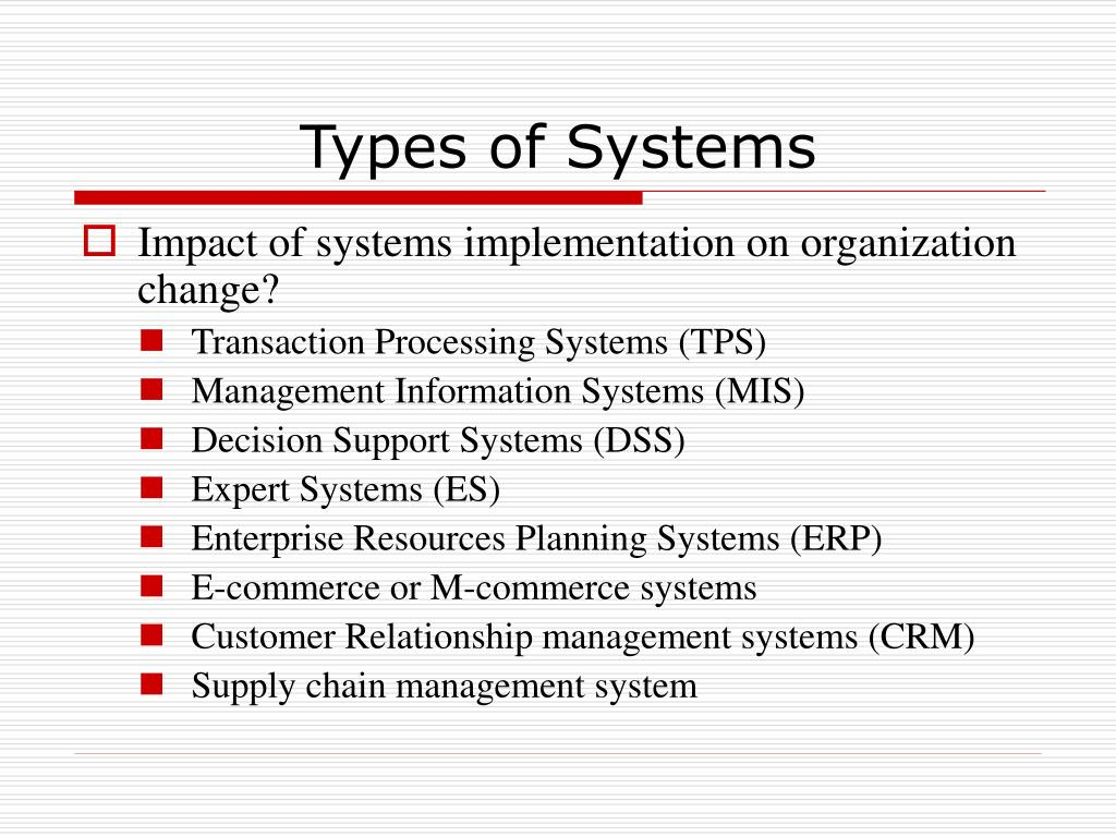 PPT - Types of Systems PowerPoint Presentation - ID:383103