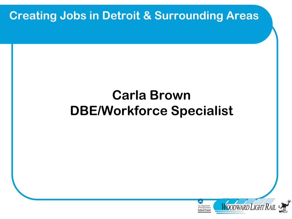 Creating Jobs in Detroit & Surrounding Areas