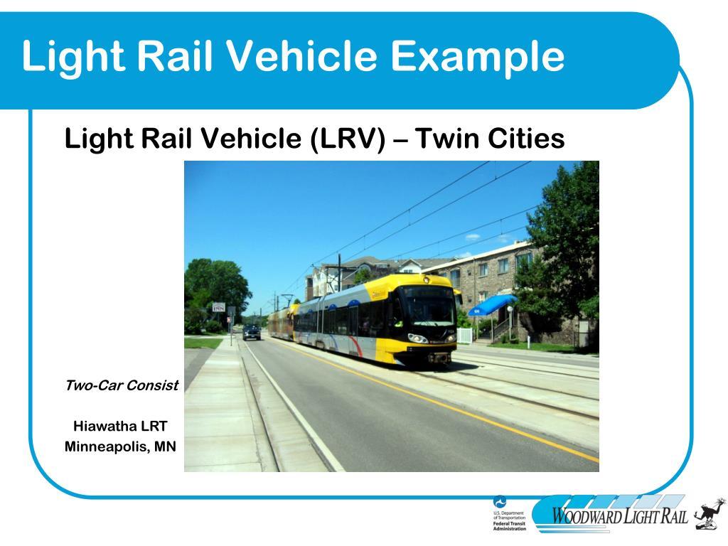 Light Rail Vehicle Example