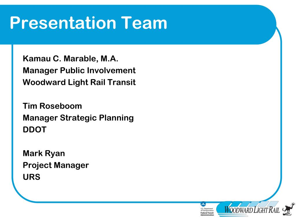 Presentation Team
