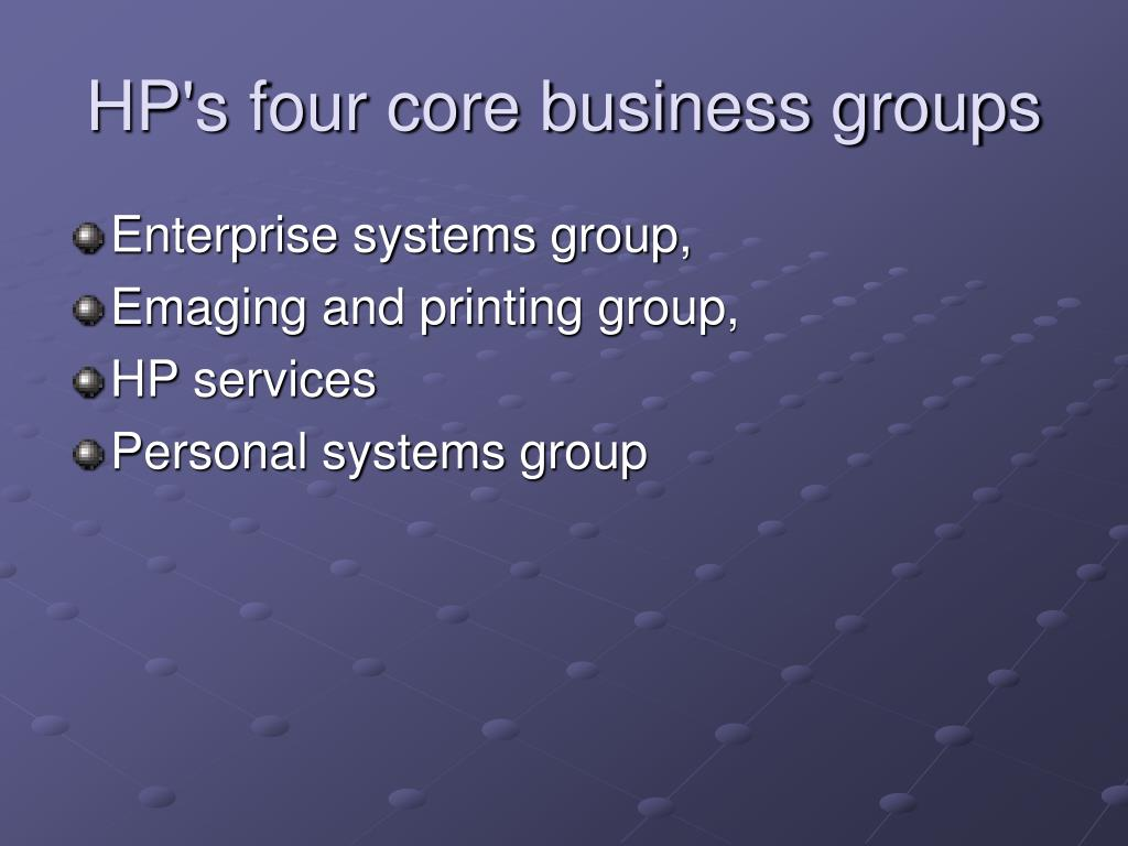 HP's four core business groups