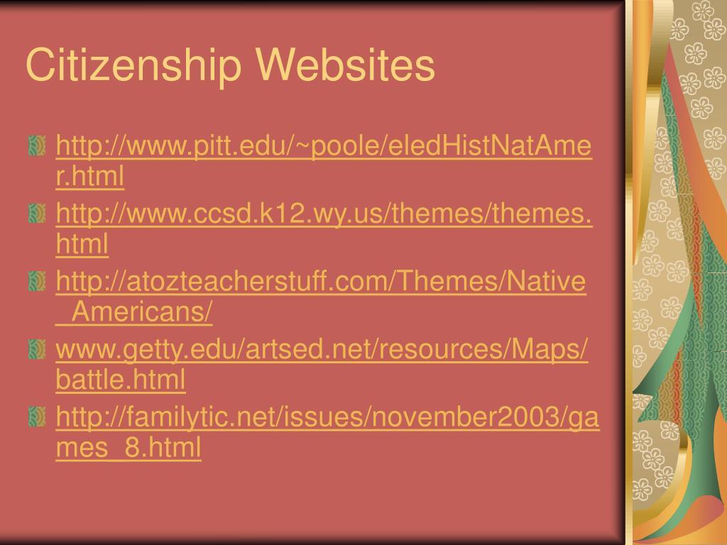 Citizenship Websites