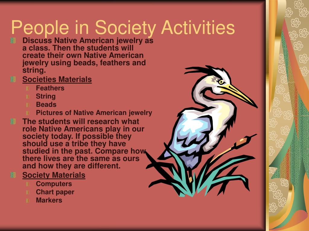 People in Society Activities