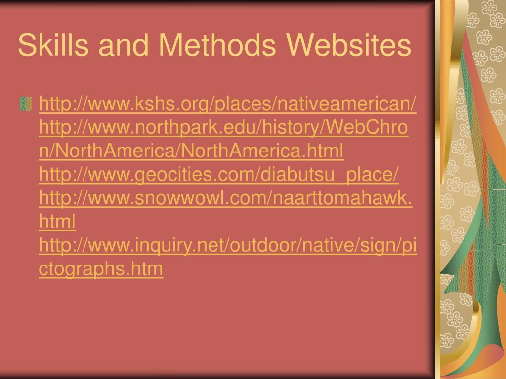 Skills and Methods Websites