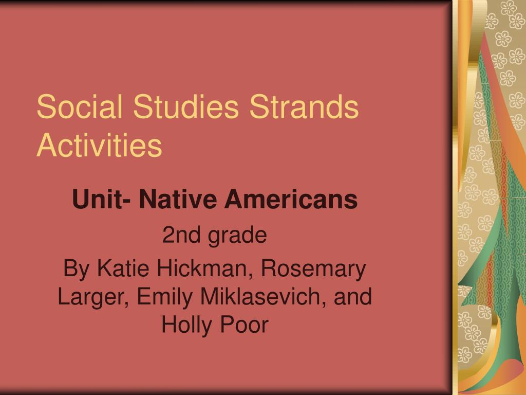 Social Studies Strands Activities