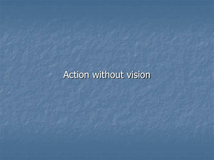 Action without vision