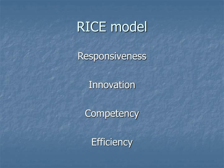 RICE model