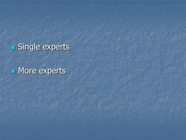 Single experts