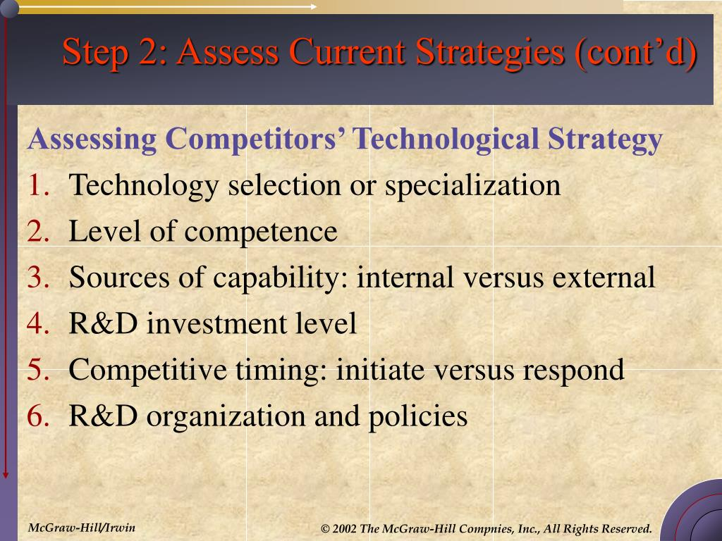 Step 2: Assess Current Strategies (cont'd)