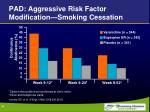 pad aggressive risk factor modification smoking cessation