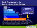 pad prevalence in the primary care office setting