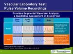 vascular laboratory test pulse volume recordings