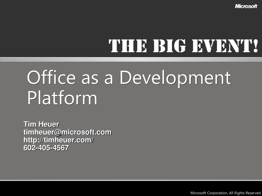 Office as a Development Platform