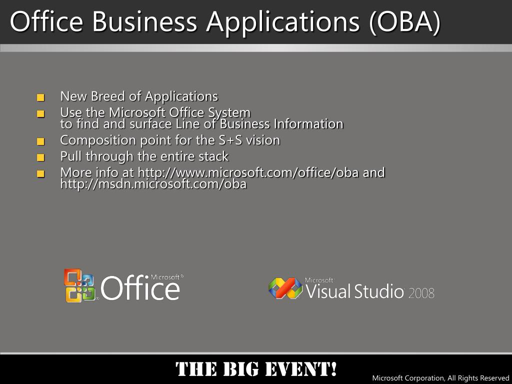 Office Business Applications (OBA)